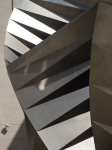 Strange patterns in an artistic cooling tower near St Paul's
