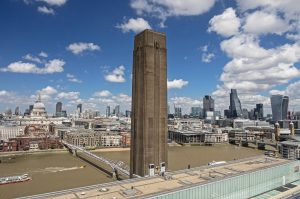 London from the New Tate Modern viewing gallery